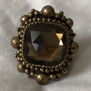 Stephen Dweck Smoky Quartz/Bronze Ring